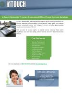In Touch Networks Provides Customized Office Phone Systems Solutions