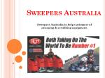 Sweepers Australia is a 100% Australian owned company. Its supplier sweeping & scrubbing equipment in maintenance, repai
