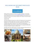 WELL KNOWN AND TOP STREET FOOD PLACES DELHI