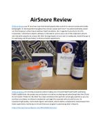 AirSnore Review - Does It Work?
