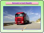 Quick and Safe Furniture Removals from Czech Republic