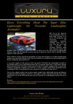 Know Everything About The Super Elite Lightweight Yet Powerful Lamborghini Aventador!