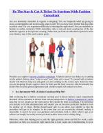 Be The Star & Get A Ticket To Stardom With Fashion Consultant