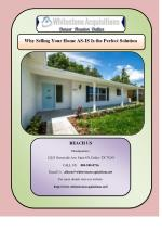 Why Selling Your Home AS-IS Is the Perfect Solution