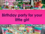 Birthday Party For Your Little Girl With Shindigz