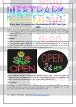 Know Some Advantages And Disadvantages Of LED Neon Open Signs