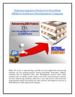 Outsourcing Java projects to Excellent Offshore Software Development Company