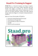 Staad Pro Training In Nagpur
