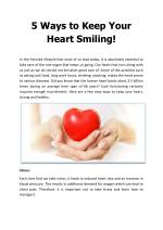 5 Ways to Keep Your Heart Smiling - Apollo Health City