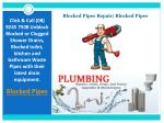 Blocked Pipes Repair|Blocked Pipes