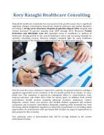 Kory Razaghi Healthcare Consulting