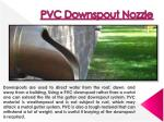 Scupper downspout nozzle