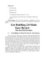 List Building 2.0 Made Easy Review