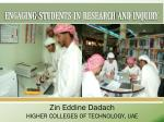 Student Based Applied Research