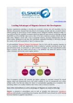 Leading Advantages of Magento Internet site Development