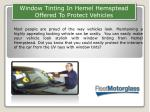 Window Tinting In Hemel Hemsptead Offered To Protect Vehicles