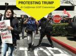 Protesting Trump at California GOP convention