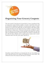 Organizing Your Grocery Coupons, Goshopandsave