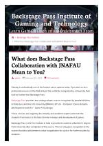 What does Backstage Pass Collaboration with JNAFAU Mean to You?