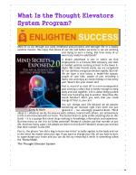 What Is the Thought Elevators System Program?