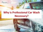 Why is Professional Car Wash Necessary?