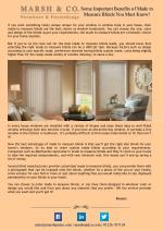Some Important Benefits of Made to Measure Blinds You Must Know