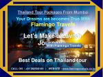 Best Thailand Tour packages from Mumbai | Flamingo Travels