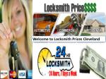 Welcome to Locksmith Prices Cleveland
