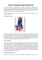 Tips on Getting the right Punjabi Suit
