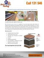 Permeable Paving from Brand Name You Can Trust - Jim's Paving