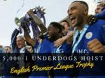 5,000-1 underdogs hoist English Premier League trophy