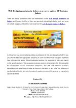 Learn Web design training in Indore at IT Training Indore