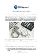 Why Hotline Reporting Matters- 360 Factors