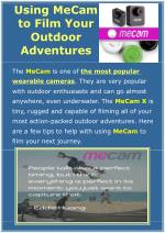 Using MeCam to Film Your Outdoor Adventures