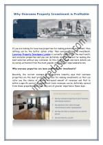 Why Overseas Property Investment is Profitable