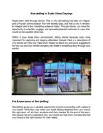 Storytelling in Trade Show Displays