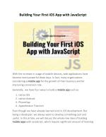 Building Your First iOS App with JavaScript