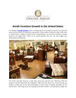 Amish Furniture Growth in the United States