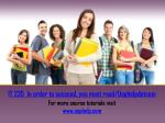 IT 235 In order to succeed, you must read/Uophelpdotcom