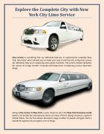 Explore the Complete City with New York City Limo Service