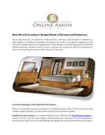 Real Wood Furniture Unique Blend of Beauty and Eminence