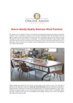 How to Identify Quality American Wood Furniture