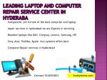 Leading Laptop Service Center in Hyderabad