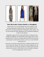 Exclusive range of trendy and fashionable women clothing