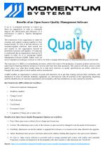 Benefits of an Open Source Quality Management Software