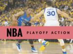 NBA playoff action