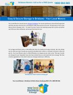 Easy & Secure Storage in Brisbane - Your Local Movers