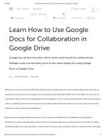 Learn how to use google docs for collaboration in google drive - storify