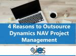 4 Reasons to Outsource Dynamics NAV Project Management