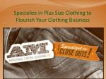 Specialize in Plus Size Clothing to Flourish Your Clothing Business